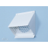 Gevelkap aluminium - hoge doorlaat (geschikt voor WTW) - voor buis 125 t/m 150mm - Wit