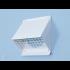 Gevelkap aluminium - hoge doorlaat (geschikt voor WTW) - voor buis 200 t/m 250mm - Wit