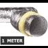 Geïsoleerde flexibele ventilatieslang - Aluminium - Ø100mm - Lengte 1 METER