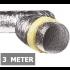 Geïsoleerde flexibele ventilatieslang - Aluminium - Ø100mm - Lengte 3 METER