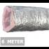Geïsoleerde flexibele ventilatieslang - Aluminium - Ø150mm - Lengte 6 METER