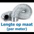 Niet-geïsoleerde aluminium flexibele slang Ø 254mm - PER METER