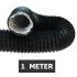 Flexibele ventilatieslang ongeïsoleerd - Zwart - Ø 80mm - Lengte 1 METER