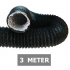 Flexibele ventilatieslang ongeïsoleerd - Zwart - Ø 125mm - Lengte 3 METER