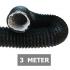 Flexibele ventilatieslang ongeïsoleerd - Zwart - Ø 150mm - Lengte 3 METER