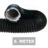 Flexibele ventilatieslang ongeïsoleerd - Zwart - Ø 125mm - Lengte 6 METER