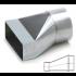 Verloopstuk Asymmetrisch van 220mm x 80mm naar rond Ø 125mm