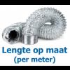 Niet-geïsoleerde aluminium flexibele slang Ø 127mm - PER METER