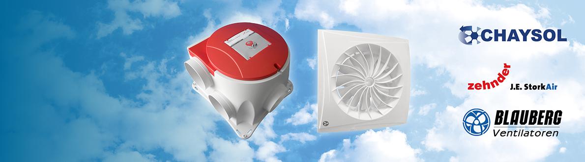 Ruime keuze uit ventilatoren
