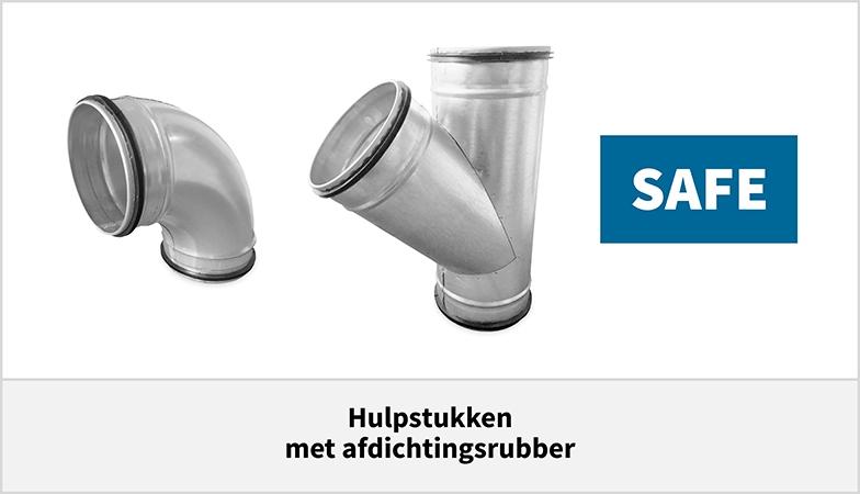 Spiro hulpstukken voor spirobuis met afdichtingsrubber safe