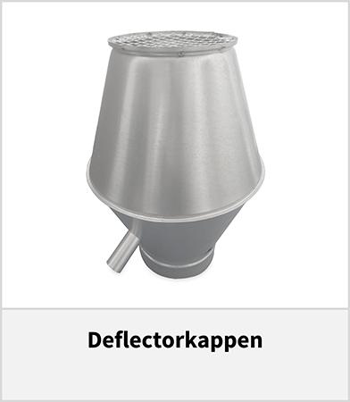 Deflectorkappen voor spirobuis dakdoorvoer